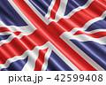 British flag background, 3D rendering 42599408