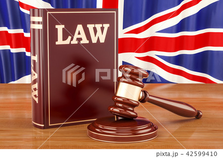 British law and justice concept, 3D rendering 42599410