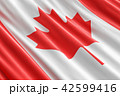 Canadian flag background, 3D rendering 42599416