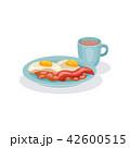 ベーコン たまご 卵のイラスト 42600515