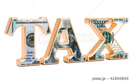 Tax inscription with USA dollar texture 42600693