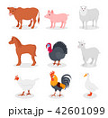 ベクトル 牛 ひつじのイラスト 42601099