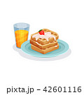 ワッフル 食 料理のイラスト 42601116