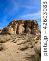 アメリカ・ジョシュア・ツリー国立公園の奇岩群 縦構図 42603083
