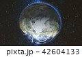 Realistic Earth Planet against the the star sky 42604133