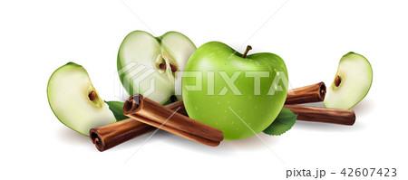 Cinnamon and green apples 42607423