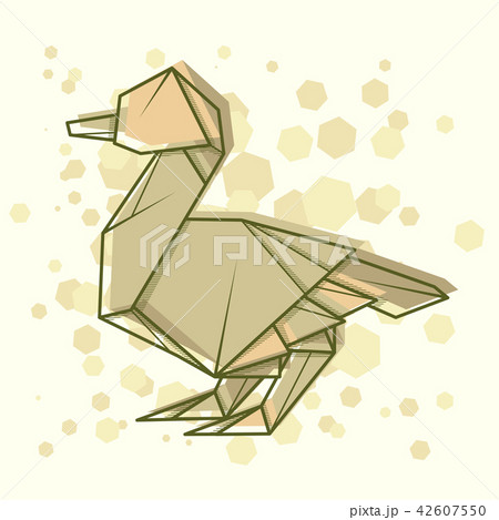 Simple illustration drawing outline duck. 42607550