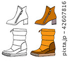 Set of Warm female half-boot 42607816