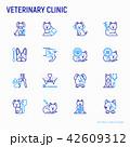 獣医 医院 イコンのイラスト 42609312