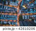 ビル群の空撮夜景 42610206