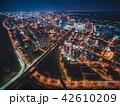 竹北市の空撮夜景 42610209