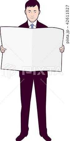 新聞を読む男性ビジネスマン 42611027