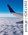 飛行機 空 雲の写真 42611403