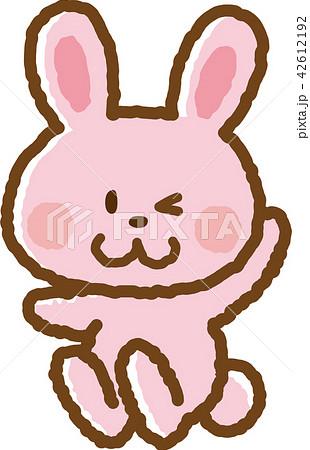 ジャンプするウサギ 2 42612192