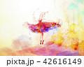 アート 芸術 バレリーナのイラスト 42616149