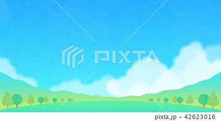 背景素材 夏の風景 42623016