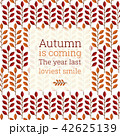 Autumn leaves pattern background 42625139