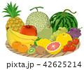 カゴに入ったフルーツのイメージイラスト 42625214