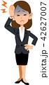 頭痛に苦しむスーツ姿の女性 42627007