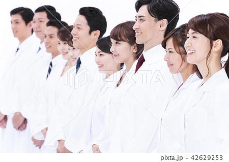 サイエンス 科学者 医者 科学 チーム 大人数 研究 女性 男性 42629253
