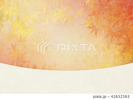 和を感じる背景素材 紅葉 白和紙 42632563
