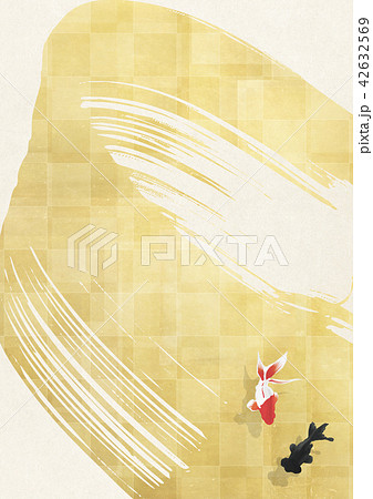 金箔と和紙 金魚 42632569