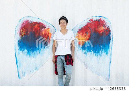 天使 羽 男性 42633338