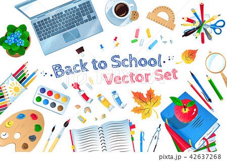 Top view Back to School vector set 42637268