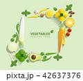 ベジタブル 野菜 爽やかなのイラスト 42637376