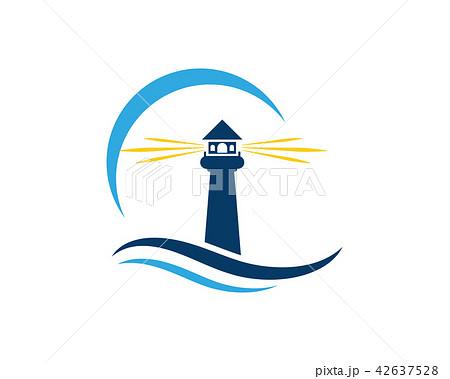 light house logo template icon vectorのイラスト素材 42637528 pixta