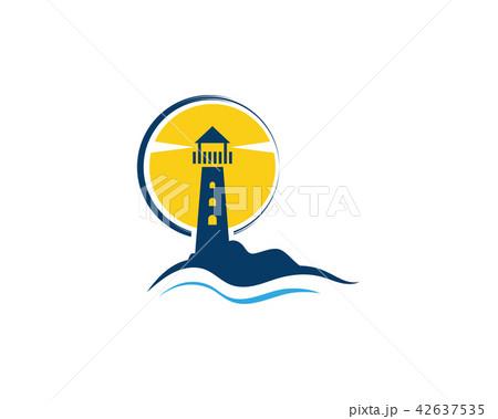 light house logo template icon vectorのイラスト素材 42637535 pixta