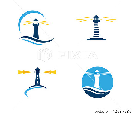 light house logo template icon vectorのイラスト素材 42637536 pixta