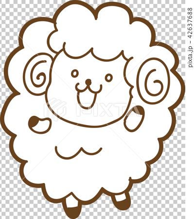 可愛的綿羊圖材料 42637688