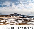 草千里ヶ浜 阿蘇中岳 雪景色の写真 42640473