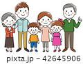 家族 ファミリー 笑顔のイラスト 42645906