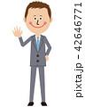 スーツ 短髪 ビジネスマンのイラスト 42646771