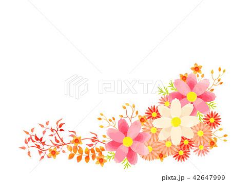 秋の花のフレーム 42647999