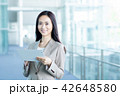 タブレット ビジネスウーマン ビジネスの写真 42648580