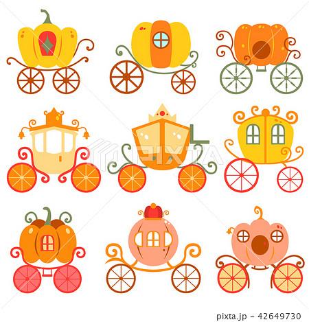 かぼちゃ 馬車 おとぎ話 レトロ イラストのイラスト素材 42649730 Pixta