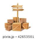 BOX ボックス 木箱のイラスト 42653501