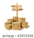 BOX ボックス 木箱のイラスト 42653508