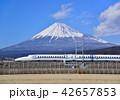 富士山 世界文化遺産 新幹線の写真 42657853