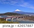 東名高速道路と富士山-6667 42657887