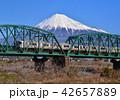 東海道線富士川橋と富士山-6670 42657889