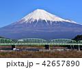 県道富士川橋と富士山-6671 42657890