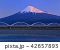 富士山 富士川 水管橋の写真 42657893