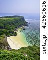 果報バンタ 海 夏の写真 42660616