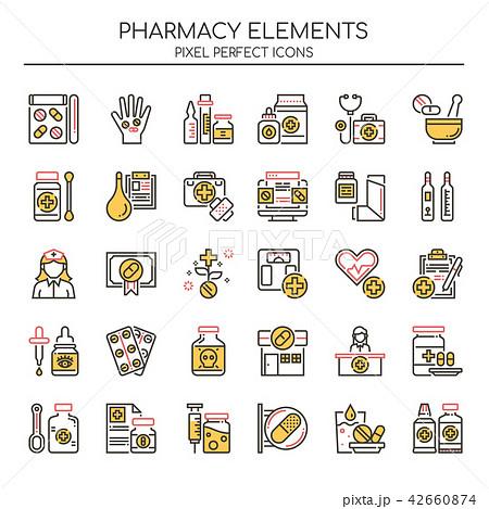Pharmacy Elements ,  Pixel Perfect Icons. 42660874
