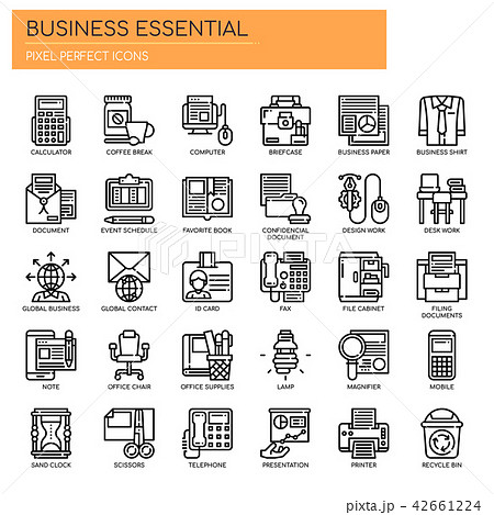 Business Essential ,  Pixel Perfect Icons. 42661224