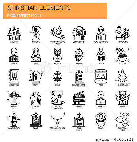 Christian Elements ,c Pixel Perfect Icons 42661321